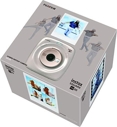 FUJIFILMハイブリッドインスタントカメラinstaxSQUARESQ20ベージュ119mmX127mmX50mm(突起部除く)INSSQ20BEIGE