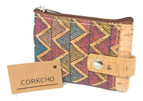 Monedero Tarjetero Corcho 100% sostenible Biodegradable Variantes y Estampados Bellos a Mano (Uves Color)