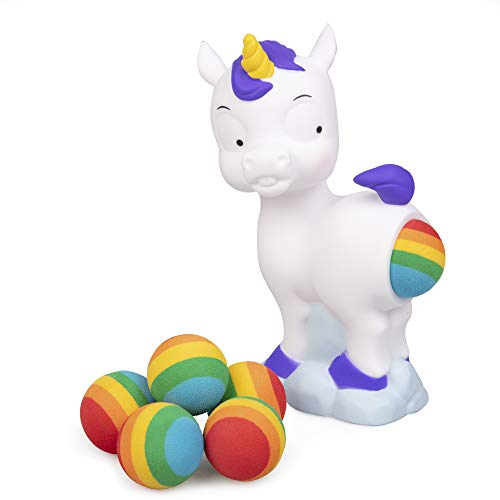 Hog Wild Pooping Unicorn Popper Toy - Shoot Foam Balls Up to 20 Feet - 6...