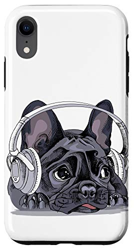 iPhone XR Cute French Bulldog Headphones Dog Bull Dog Lover Gift Case