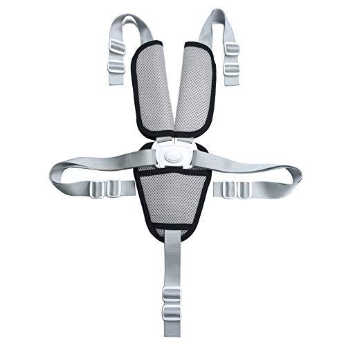 Fitzulam Correas de seguridad para sillas altas, arnés de seguridad de 5 puntos para niños con almohadillas de protección para el