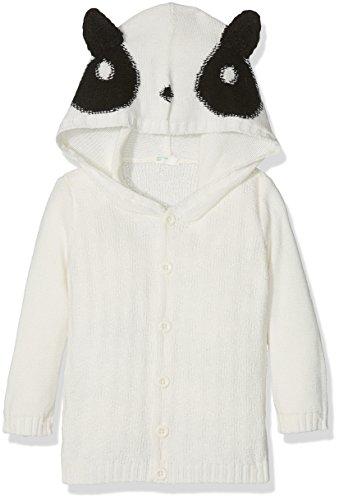 United Colors of Benetton Baby-Jungen Jacket W/Hood L/S Jacke, Weiß (White 600), 68