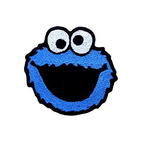 Emporium Embroidery, Aufnäher, Stickerei mit Krümelmonstern zum Aufbügeln für Jacke, Abzeichen, Jeans, Tasche, Kappe, für Kinder und Rucksäcke, Textil, *, 80