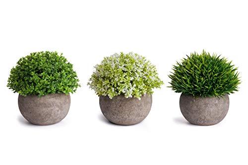 HB life 3PCS Plantes Grasses artificielles Succulentes Vertes Pot Plantes Grasses Home Garden Table Déco