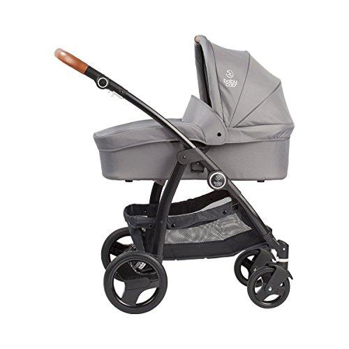 Babycab Kombikinderwagen Mara/Kinderwagen mit schwenkbaren Vorderrädern/belastbar bis 15kg / grau