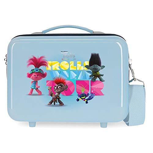 Trolls World Tour Nececer Adaptable Azul 29x21x15 cms ABS