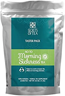 Morning Sickness Relief- No To Morning Sickness Tea- Pregnancy Nausea Relief- USDA Organic- 10 Unbleached Tea Bags