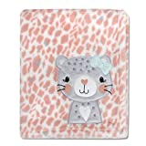 Baby Essentials Plush Fleece Throw and Receiving Baby Blankets for Boys and Girls (Playful Kitten)
