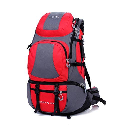 Diamond Candy Zaino da Trekking Outdoor Donna e Uomo con Protezione Impermeabile per alpinismo arrampicata equitazione ad Alta Capacitš€ borsa da viaggio,Multifunzione, 38 litri Rosso