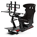 Extreme Sim Racing Wheel Stand Advanced Cockpit P1 Black Edition Racing Simulator For Logitech G25, G27, G29, G920, Thrustmaster And Fanatec - ROCK SOLID