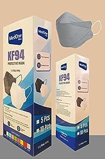 10pcs Gray Color KF94 Disposаble Face Mask CE FDA Certified Coronàvịrụs 4 Layer Protectịon Adult's Filtеr Fàce Màsk - KF94...