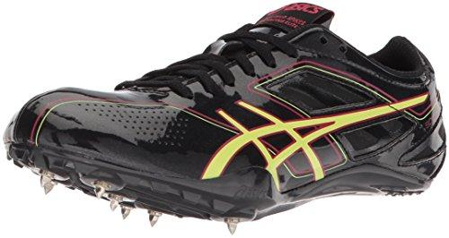 ASICS Women's Sonicsprint Track Shoe,Black/Sharp Green/Teaberry,10 M US