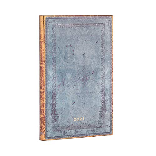 Paperblanks 12 Monate Softcover Flexis-Kalender 2021 Rivierablau Schlicht | Horizontal | Maxi (135 × 210 mm), FD6777-1