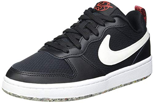 Nike Court Borough Low 2 MTF (GS), Scarpe da Basket, Black/White-BRT Crimson, 37.5 EU