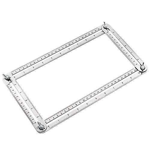 Amacoam Angle-sjabloon, gereedschap, hoekmes, hoeken, liniaal, gereedschap, liniaal, roestvrij staal, meetinstrument, meerkleurig, meetliniaal, gereedschap voor doe-het-zelvers