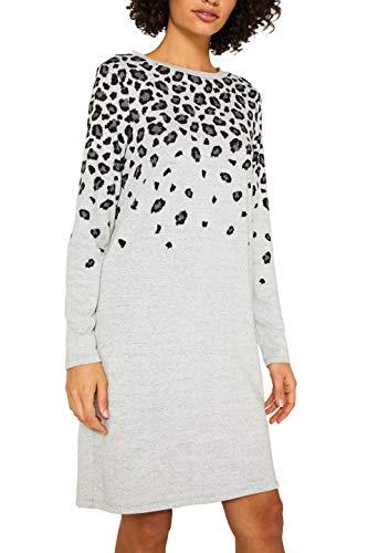ESPRIT Damen 119EE1E015 Kleid, Grau (Light Grey 5 044), Medium (Herstellergröße: M)