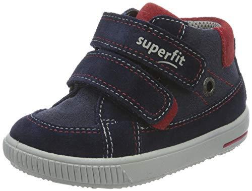 Superfit Baby Jungen MOPPY Lauflernschuhe, Blau (Blau/Rot 8000), 24 EU
