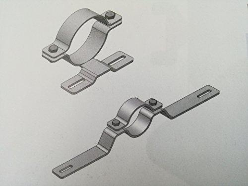 Buisklem voor verkeerstekens, klemmen, voor palen 60 mm/gatafstand 70 mm