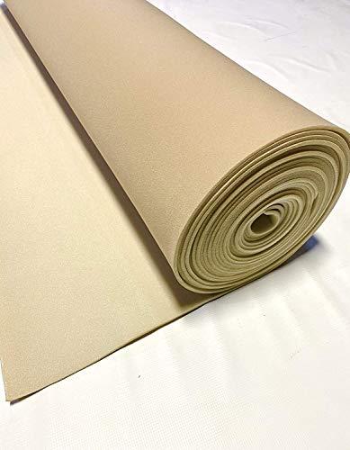 Lt Tan 90' Long X 60' Wide Headliner 3/16 Foam Backed Fabric Material
