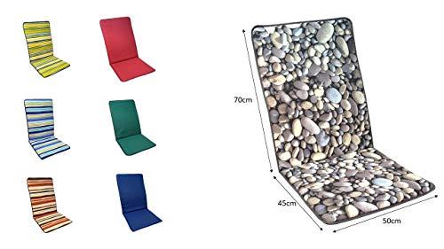 COJIN Silla Jardin Respaldo MULTIPOSICION Tumbona (Lote 2 Unidades) (Piedras)