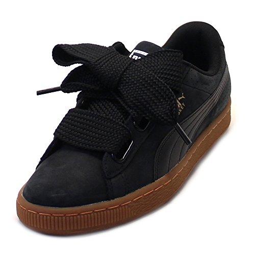 Puma Basket Heart, Zapatillas para Mujer, Negro Black-Gold, 37 EU
