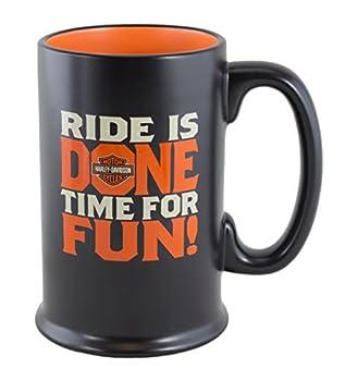 Hallmark Harley Davidson Ride is Done Time for Fun  Ceramic Stein