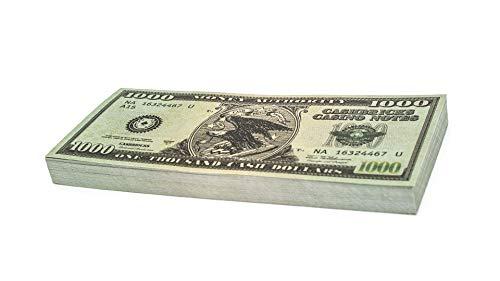 Cashbricks 100 x $1.000 Dollar Spielgeld Scheine