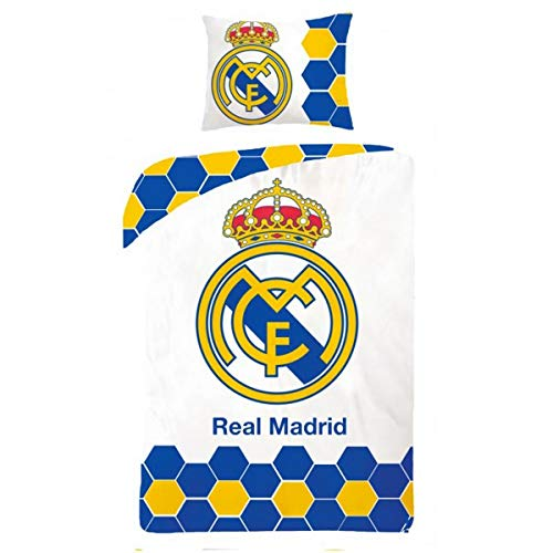 Real Madrid - Parure de Lit Football - Housse de Couette