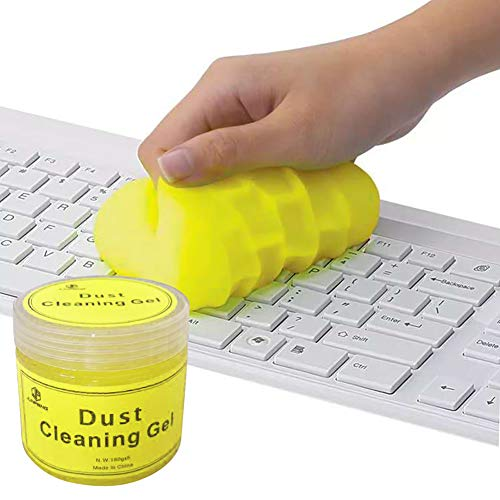 Keyboard,Laptop Cleaning Gel,Cleaner Mud for Car Interior Detailing Tools,Universal Dust Remover Putty,200G (Yellow)