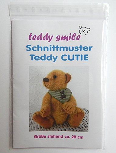 teddy smile - Schnittmuster Teddy Cutie - 28 cm - mit Anleitung Zum Fertigen Eines Traditionellen Teddybären