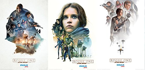 ROGUE ONE: A STAR WARS STORY Original Promo Movie Poster 13'x19' AMC IMAX Complete Set of 3