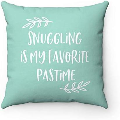 Amazon Com Fabricmcc Snuggle Pillow Snuggling Pillow Snuggle Quotes Bedroom Pillows Bed Pillows Cute Pillows Teal Pillow Cuddle Pillow Cuddle Bed Decor Home Kitchen