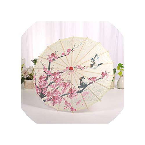 Paraguas de Seda China, Estilo clásico, Paraguas Decorativo, Paraguas de Papel Pintado con Aceite 1