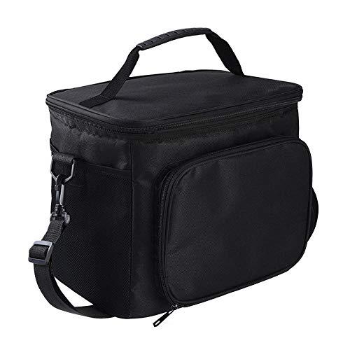 Kühltasche zum Mittagessen Hochwertige, große, isolierte Lunch-Tasche mit 2 wiederverwendbaren Kühlboxen Reißverschlüsse zum Ziehen Abnehmbarer Schultergurt Geräumig Vergleichen