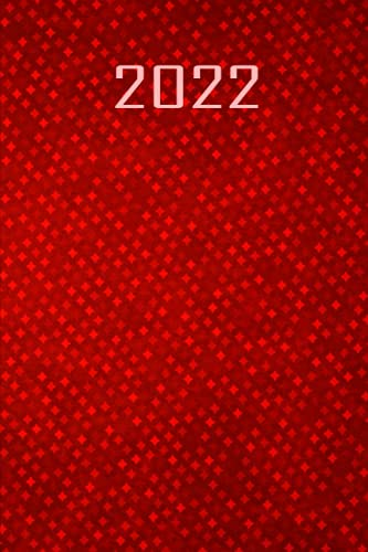 2022: daily Diary 22- 12 months planner -red-a5 - Day per page /365 days /382 pages -Monthly Calendar - day to view , to do list , Organizer