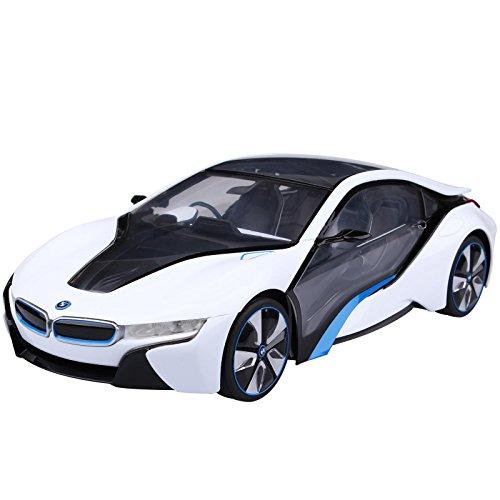 Rastar 49600-11 Voiture Radiocommandée BMW I8 Miniature Echelle 1:14 Blanc