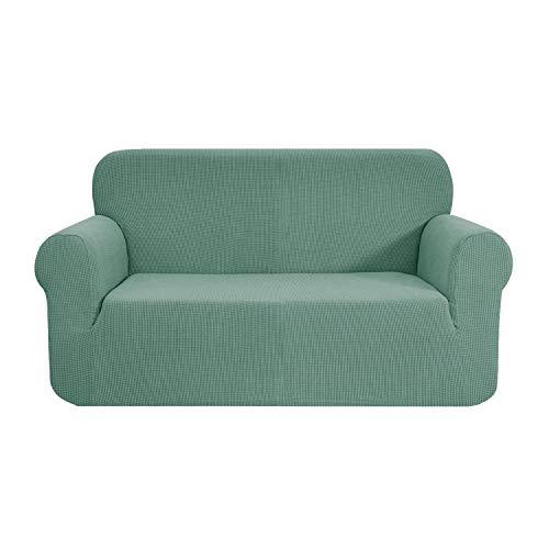 E EBETA Funda de sofá, Tejido Jacquard de poliéster y Elastano, Funda de Clic-clac elástica Cubiertas de sofá de 2 Plaza (Verde Claro, 145-185 cm)