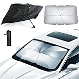 Lifetooler Car Windscreen Sunshade Front Window UV Protection Umbrella Sunscreen Heat-insulating Foldable Parasol Universal for Cars Keep Car Cool(Big,79*130*145 cm)