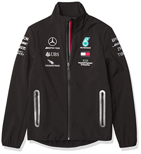 Fuel For Fans Formel 1 Herren 2020 Team Softshell-Jacke, Herren, Mercedes-AMG Petronas F1 - 2020 Team Softshelljacke, schwarz, X-Small