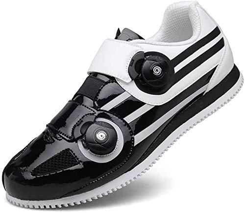 JINFAN Road Cycling Shoes,Men's Bicycle Shoes,Lightweight Wear Resistant Bike Footwear Road Bike Shoes Mountain Bike Shoe,Black-39EU