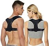 LQH Corrector de Postura for Hombres y Mujeres, Ajustable y Transpirable clavícula espinal Soporte Bracea, Medio (Color : Large)