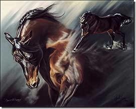 Spirit of Avenger by Kim McElroy - Horse Equine Art Ceramic Accent Tile 8