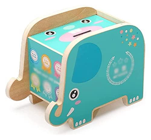 sacfun Piggy Bank Wooder Piggy Bank Banco de Gran Capacidad Banco Pequeño Elefante Honor Tanque de Almacenamiento Creativo Muchacha Cumpleaños Regalo Caja de Ahorro de Dinero