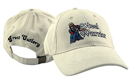 Steel Warrior Frost Cutlery White 100% Cotton Hat Baseball Cap