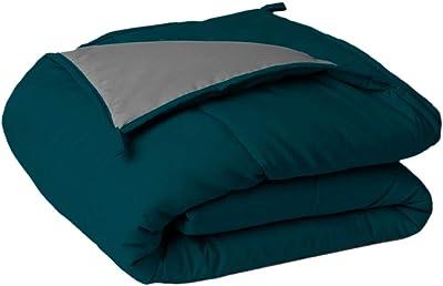 Sleepyhead Reversible Microfiber Comforter, Deep Teal & Ash Grey - Double Size, 220 GSM