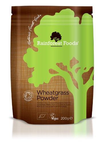 Rainforest Foods Organisches Neuseeland Weizengras-Pulver, 1er Pack (1 x 200 g) - Bio