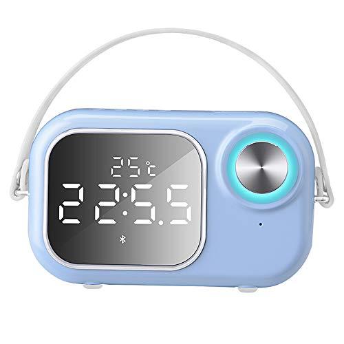 Jian E- Bluetooth-luidspreker - radio wekker laptop super subwoofer draagbare radio kaarten Outdoor Cannon subwoofer [real-time temperatuurweergave + bluetooth luidspreker, F
