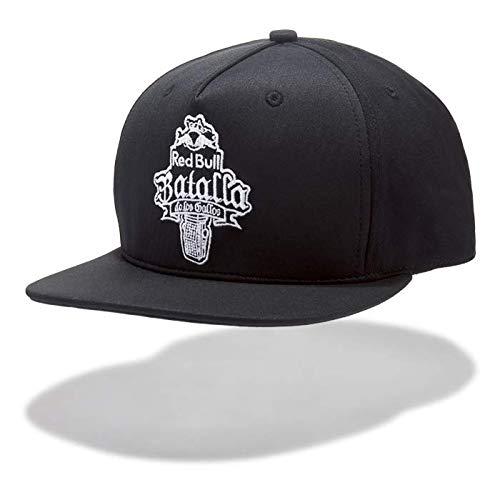 Red Bull Gallos Gorra, Negro Unisexo Talla única Gorra Visera Plana, Batalla de los Gallos Hip Hop Freestyle Original Ropa & Accesorios