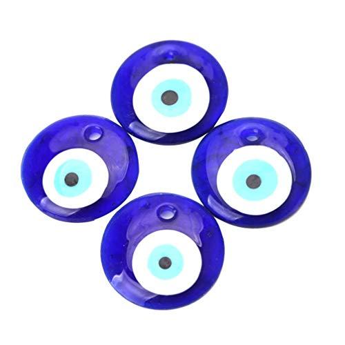 SUPVOX Ciondolo malocchio 4 pezzi, eyetalisman blu fortunato, perline malocchio per bracciale stringato macrame con decorazione intrecciata