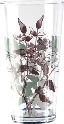 Corelle Coordinates by Reston Lloyd Twilight Grove Acrylic Rock Glasses, 14-Ounce, Set of 6
